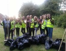 2nd Storrington Guides help In Bloom 2014
